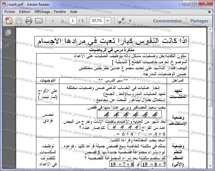 Pdf مذكرات للدروس للسنة الاولى منتدى التعليم التونسي Jawhara Soft